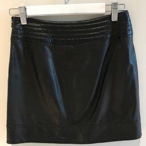 Trouve Black Leather Mini Skirt